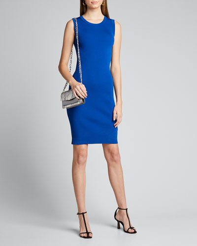 Crewneck Sleeveless Bodycon Dress