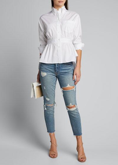 Karolina Petite Distressed Jeans