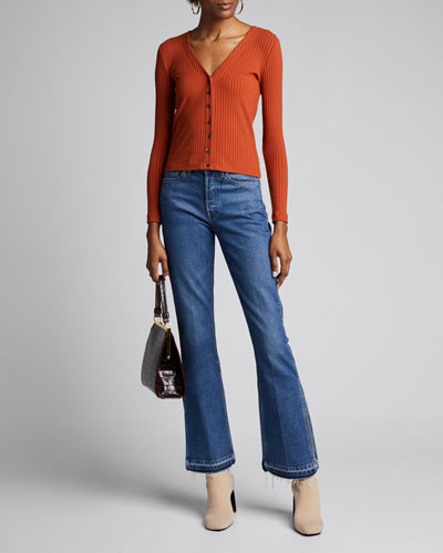 3x1 X Mimi Cuttrell Kellie Boot-Cut Jeans