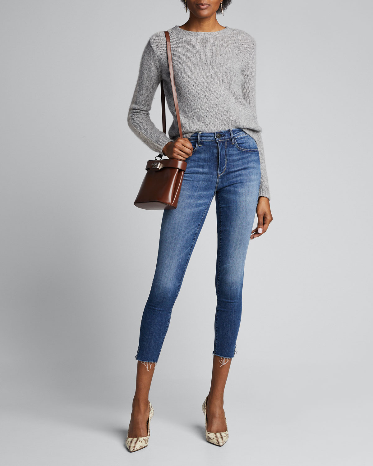 3x1 Jeans MID-RISE SKINNY CROP JEANS