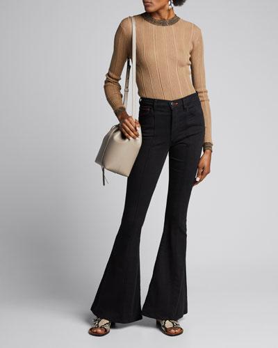 3x1 X Mimi Cuttrell Maxime High-Rise Flare-Leg Jeans