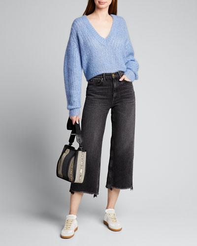 Marltox V-Neck Mohair Sweater