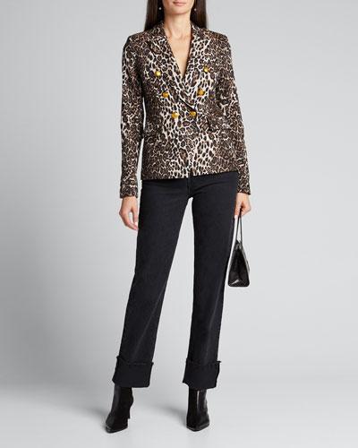 Alton Leopard-Print Jacket