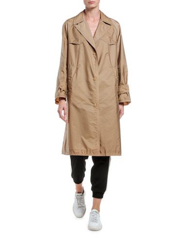 Vanille Long Raincoat