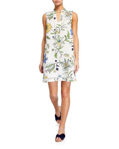 Printed Sleeveless Beach Dress