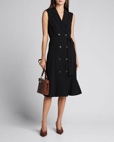 Hollie Double-Breasted Sleeveless Midi Dress