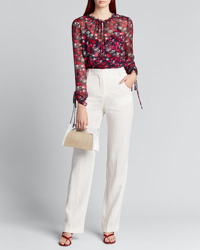 Lilian Floral Long-Sleeve Blouse