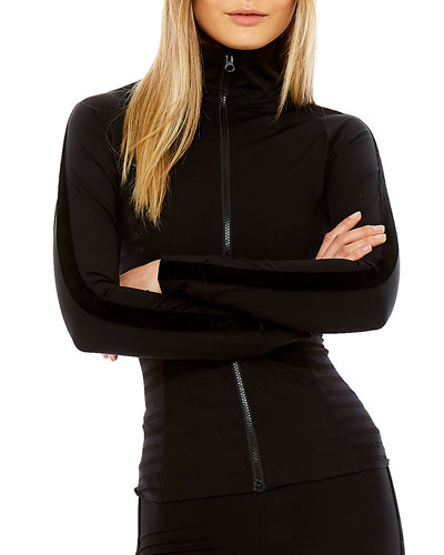 Velvet Tasha Zip-Front Matte Tech Jacket