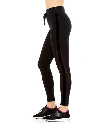 Velvet Stripe Yoga Leggings