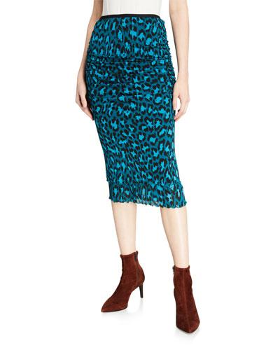 Elaine Leopard Printed Pencil Skirt