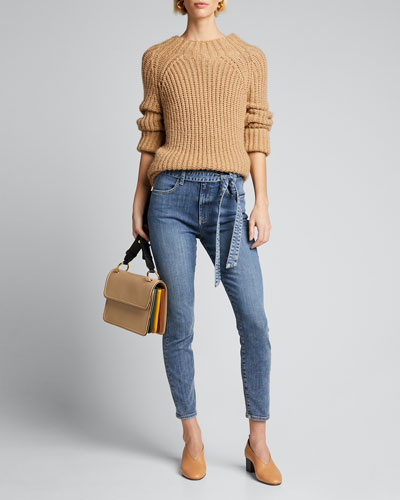 Good High-Waist Belted Skinny Jeans