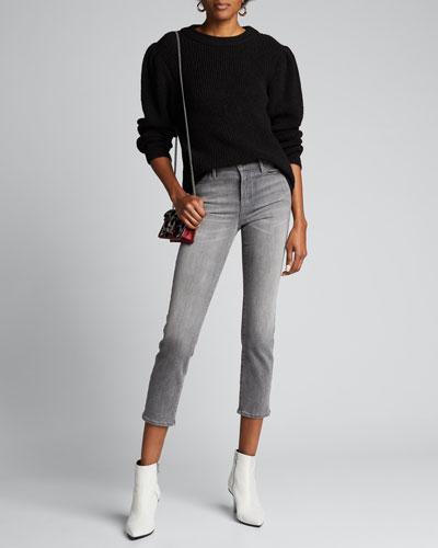Le High Straight Foil Tux Jeans