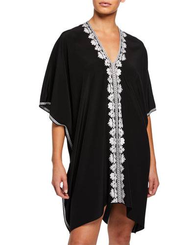 Short Embroidered Boubou-Coverup Dress