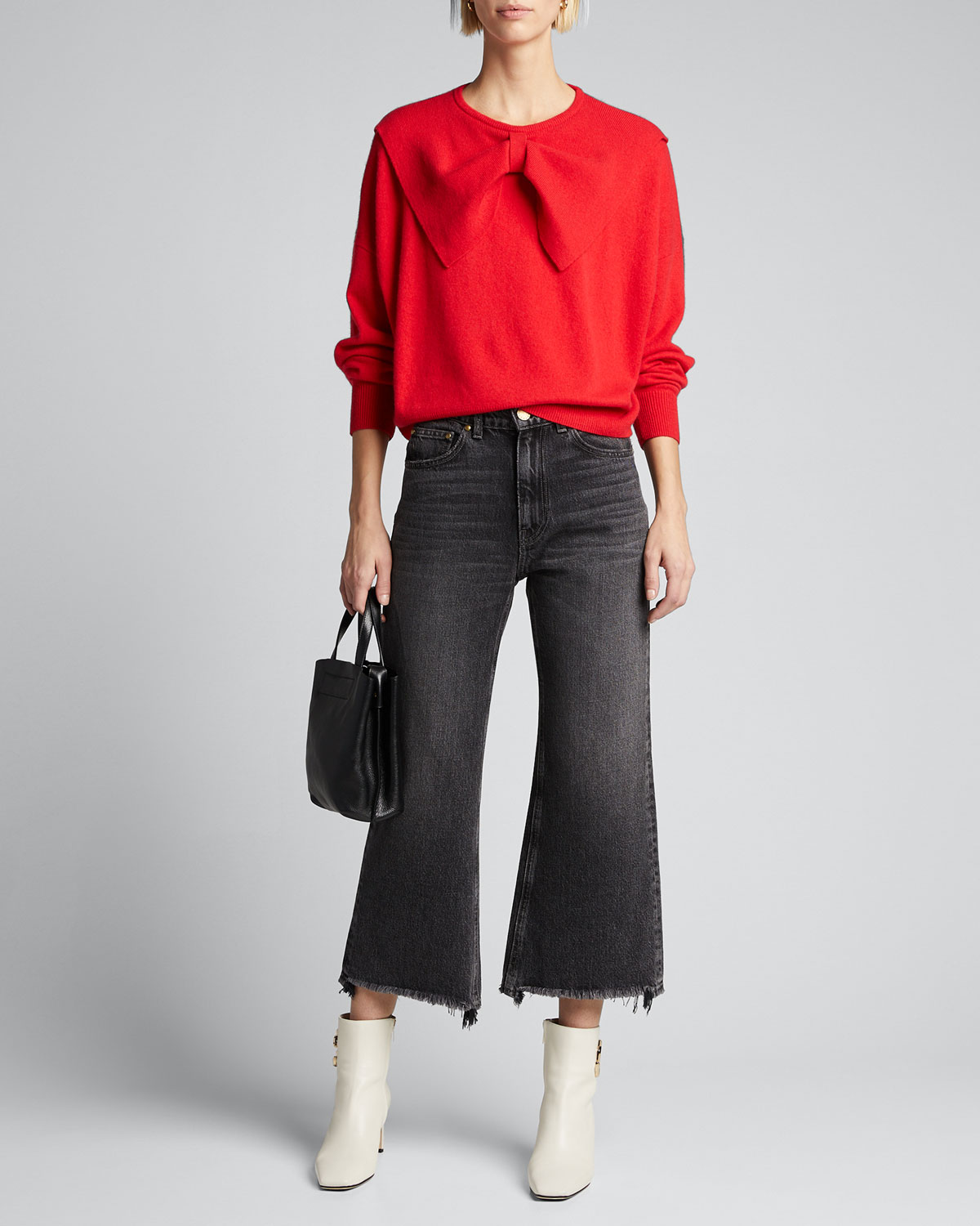 The Great Sweaters THE BOW CASHMERE SWEATER