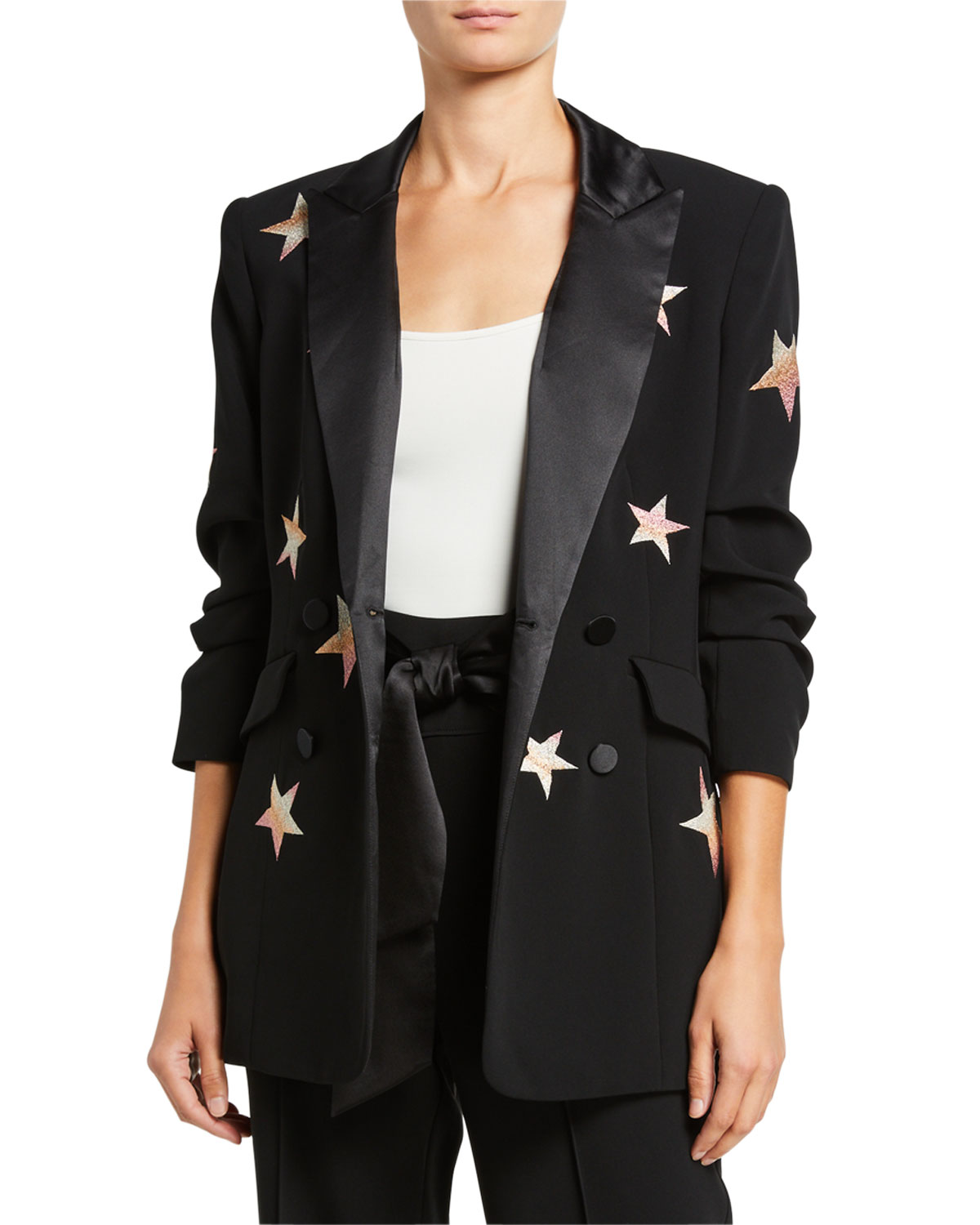 Cinq À Sept Blazers LILA EMBROIDERED STAR BLAZER