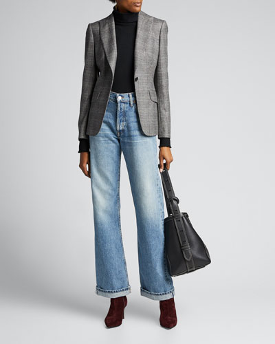 High-Rise Loose Rigid Straight-Leg Jeans