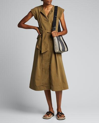 Adalene Cotton Cap-Sleeve Dress