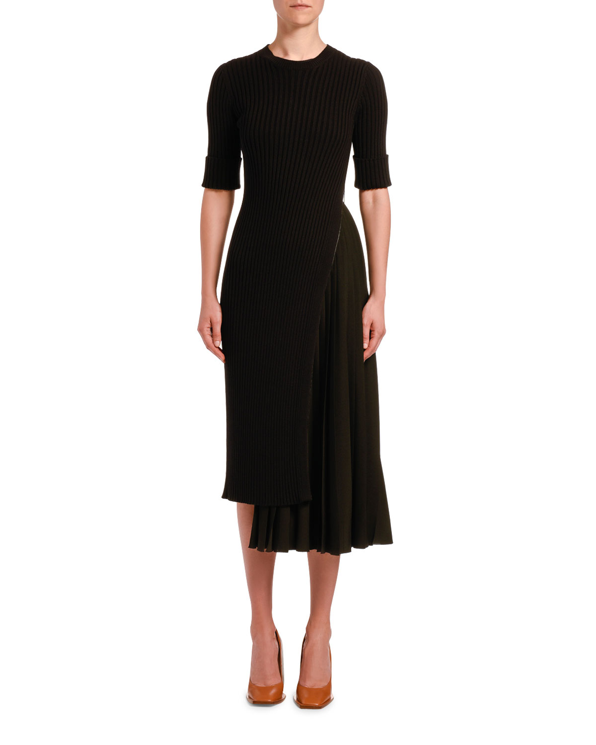 N°21 Dresses ASYMMETRICAL KNIT COCKTAIL DRESS