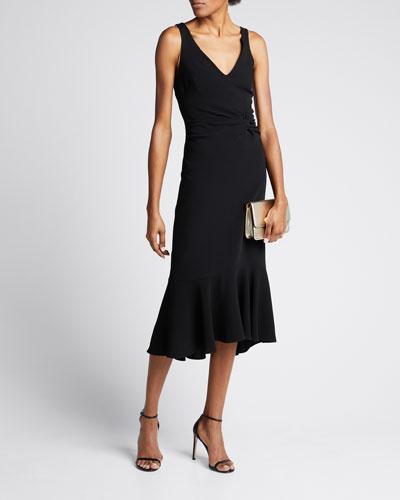 Adira Twisted Sleeveless Cocktail Dress