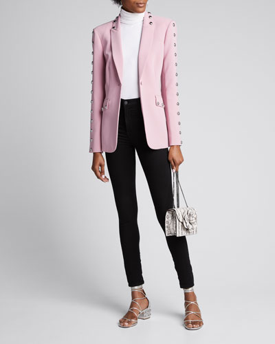 Dive Studded Crepe Single-Button Jacket
