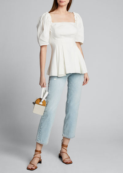 London Cropped Straight-Leg Jeans