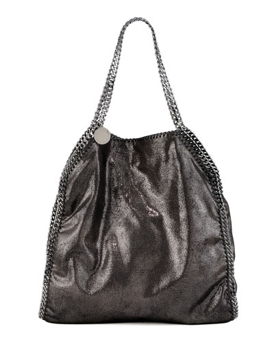Falabella Large Tote, Ruthenium