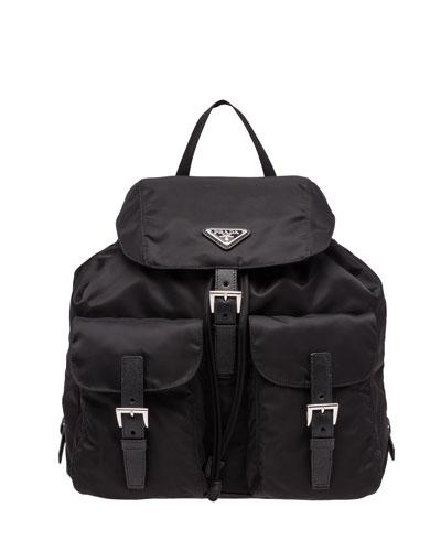 ad6babdff Vela Large Two-Pocket Backpack, Black (Nero)