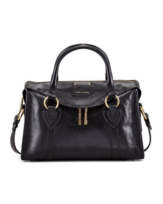 Fulton Small Top-Handle Bag, Black