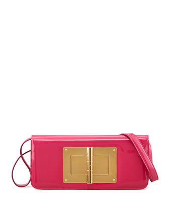 Natalia Patent East-West Turnlock Shoulder Bag