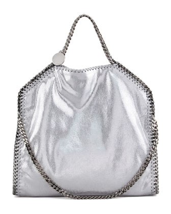 Falabella Fold-Over Tote Bag, Silver