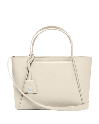 Alexa Medium Business Tote Bag, Off White
