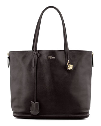 New Padlock Small Shopper Bag, Black