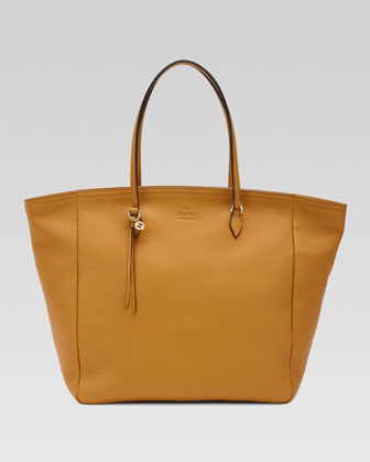 Bree Leather Tote, Yellow