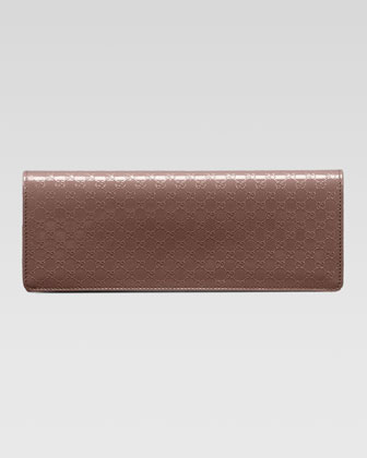 Broadway Microguccissima Patent Leather Evening Clutch, Mauve