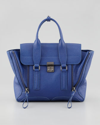 Pashli Medium Satchel Bag, Cobalt