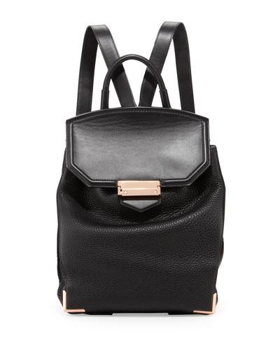 Prisma Skeletal Leather Backpack, Black