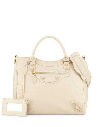 Giant 12 Golden City Tote Bag, Cream