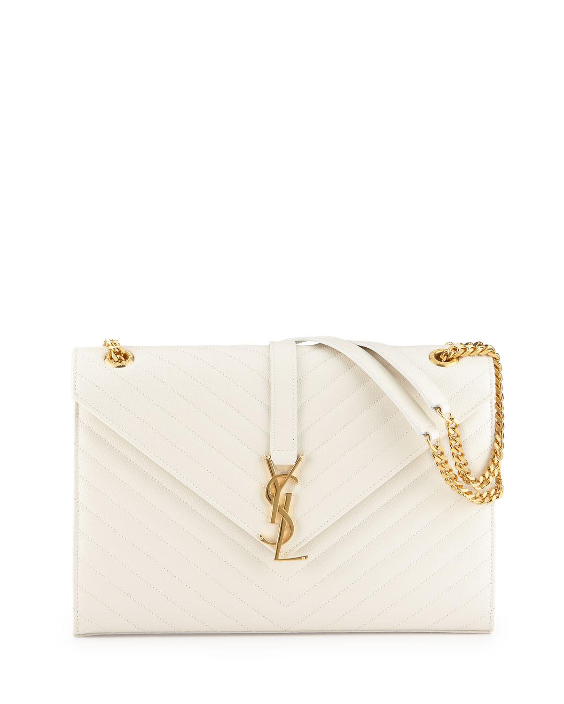 Monogram Matellase Shoulder Bag, White