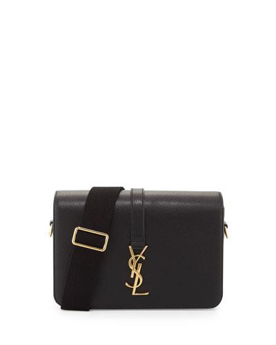 Université Medium Leather Shoulder Bag, Black