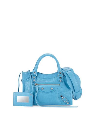 Classic Nickel City Mini AJ Bag, Bright Blue