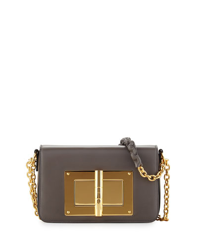 Natalia Medium Chain Crossbody Bag, Dark Gray
