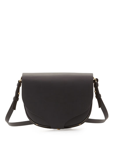 Barnsbury Medium Saddle Bag, Black