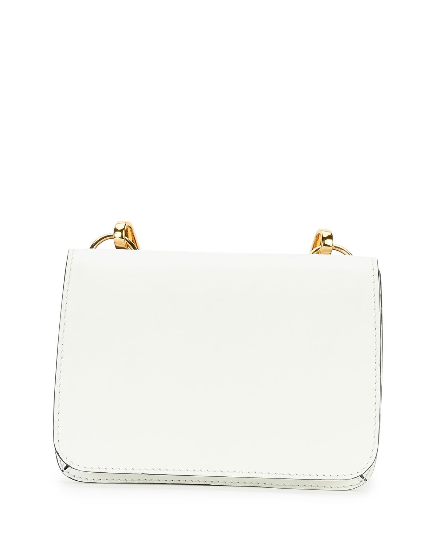 Bandoleer Flap Shoulder Bag, White Multi