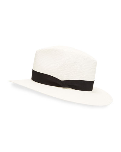 Panama Straw Hat, White