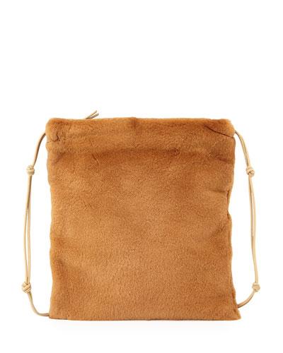 Medicine Large Mink Pouch Bag, Caramel