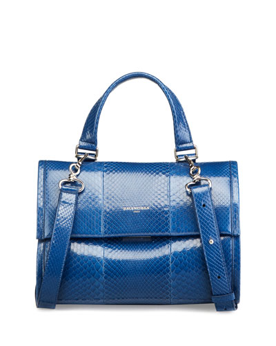 Tool Small Python Satchel Bag, Blue