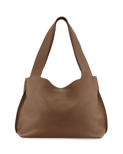 Duplex Calfskin Satchel Bag