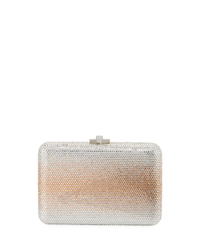 Slim Slide Crystal Evening Clutch Bag, Aurum Ombre
