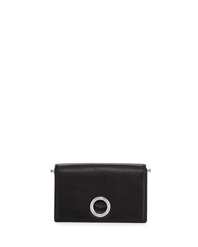 Riot Leather Convertible Clutch Bag, Black