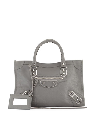 Classic Metallic Edge City Small Bag